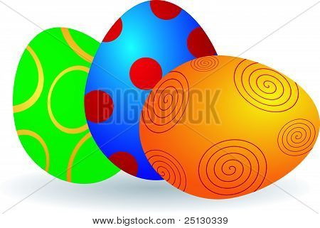 Vector Illustration Of Easter Eggs