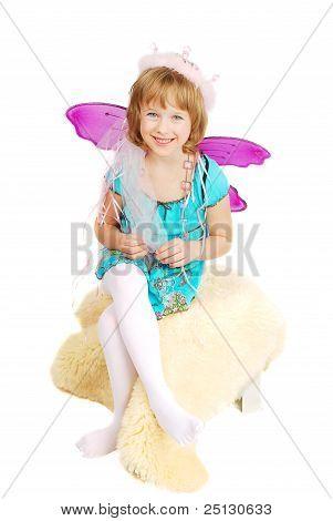 Dancing Sitting Costume Girl.