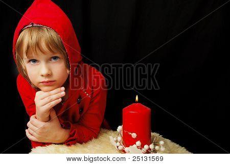 Christmas Serious Girl.