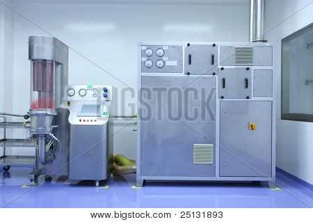 Hi-tech equipment of pharmaceutical factory