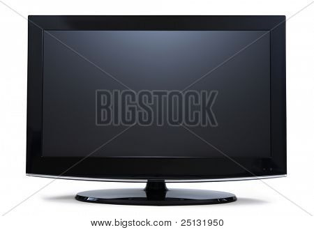 Frontalansicht Widescreen lcd-Monitor, isolated on white