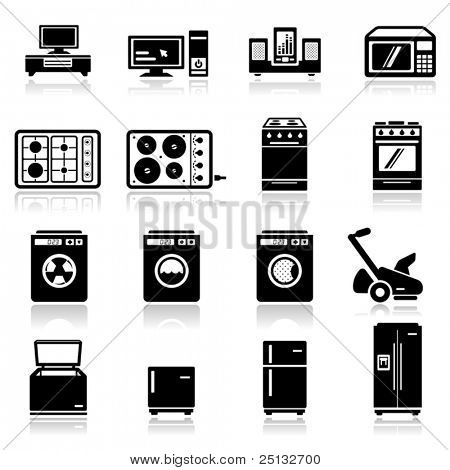 Icons set appliances