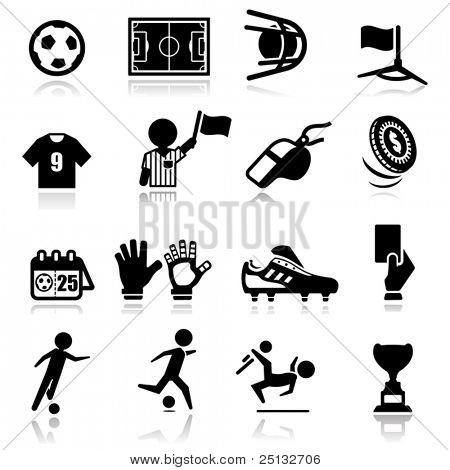 Icons set Soccer