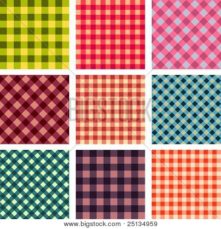 Abstract seamless square pattern set