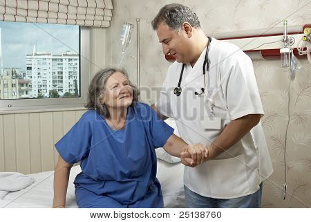 Hospital Room Doctor And Patient