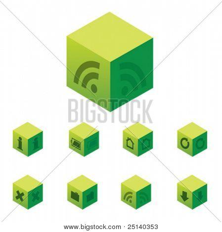 Cubicals - web 2.0 icon set