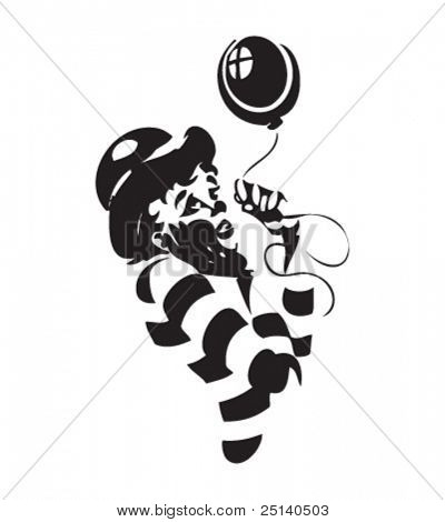 Clown illustration - second in a series of three