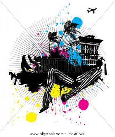 Abstract Urban Vector Illustration