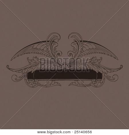 Vector Calligraphic Design Element