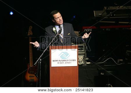 NEWARK - NOVEMBER 9: Comedian Joe Piscopo speaks at the 9th Annual Concert for Kids on behalf of the Boys and Girls Club of NJ at NJPac on November 9, 2011 in Newark, NJ.