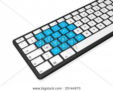 New Year 2012 Computer Keyboard