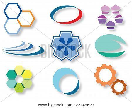 Web icon marks and symbols