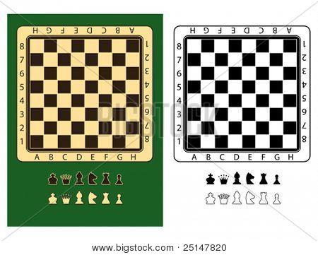 Schachbretter und Schachfiguren Symbole, sehr leicht zu bearbeiten und neu anordnen
