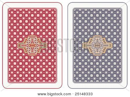 Playing cards back abstract design