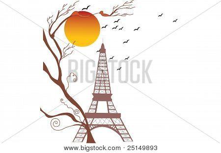Eiffel Tower, Autumn