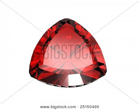 Jewelry gems shape of trillion. Ruby