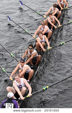BOSTON - OCTOBER 23: Gonzaga College High School youth men's Eights races