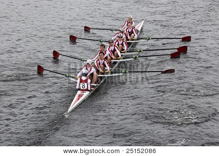 BOSTON - OCTOBER 23: St. Joseph's Preparatory School youth men's Eights races in the Head of Charles