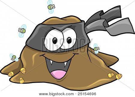 Vampire Ninja Turd bandit Vector Art Illustration