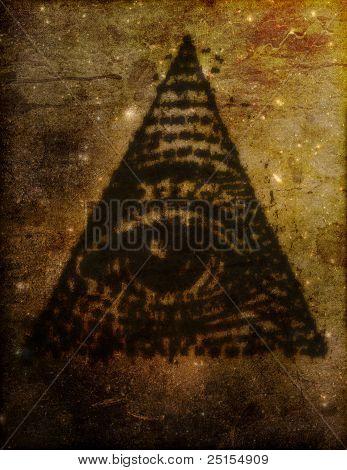 Illuminati Eye In Triangle Illustration
