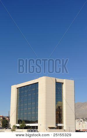 El Paso City Hall Under Blue Sky
