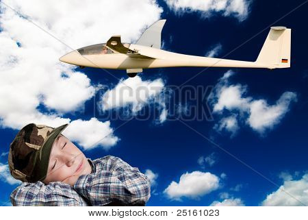 child dreams to fly