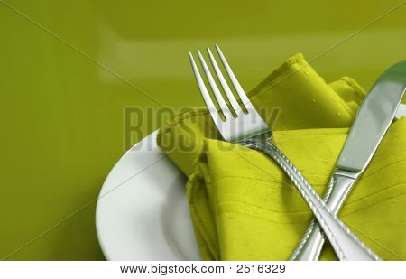 Lime Green Table Setting