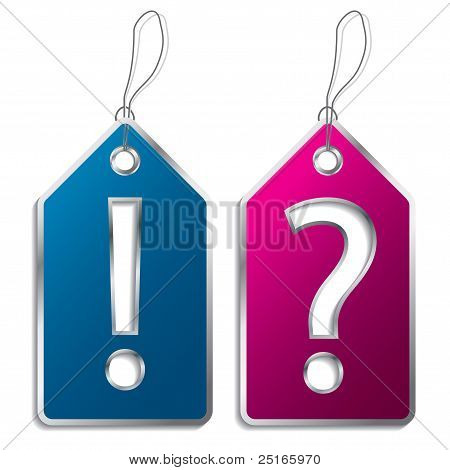 Question And Exclamation Mark Label