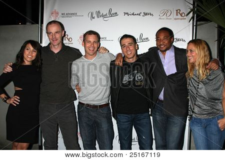 LOS ANGELES - NOV 9: Elizabeth Rodriguez, Bryan F. O'Byrne, Tim Griffin,  Kirk Acevedo, Damon Gupton, Maria Bello at the