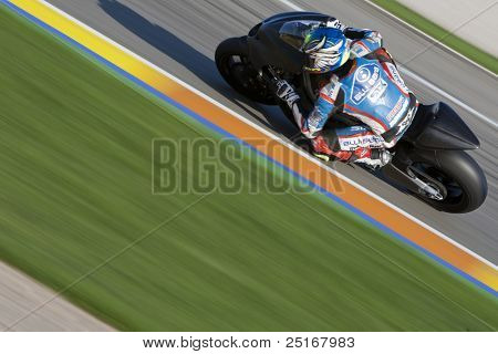 VALENCIA, SPAIN - NOVEMBER 9: Johnny Hernandez in the official motogp test with new 1.000cc engines, Ricardo Tormo Circuit of Cheste, Spain on november 9, 2011
