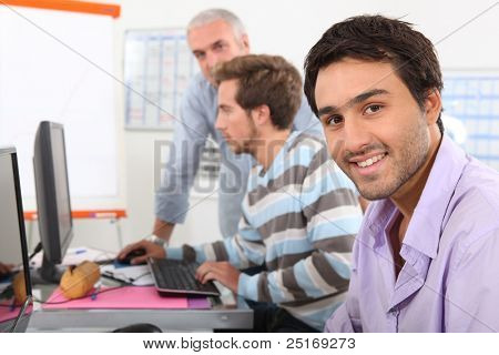 Men in computing training