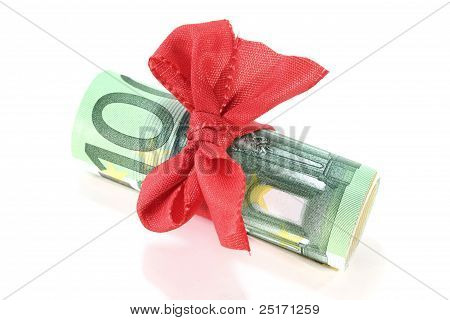 Euro Notes With Ribbon
