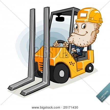 Forklift with the Driver