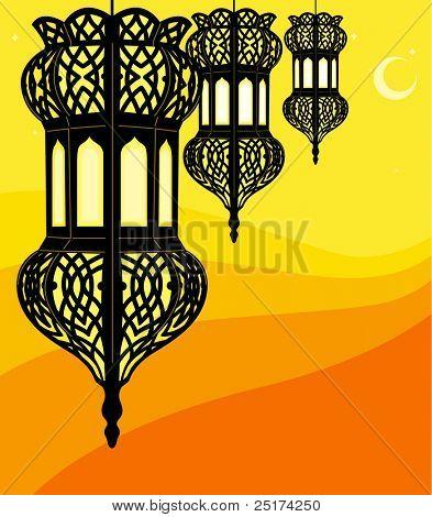 Ilustração de lanterna elegante do Ramadã