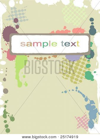 abstract colorful pastel spotty frame