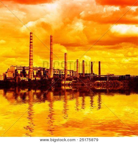 power plant - air pollution