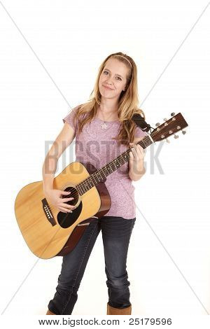 Girl Playing Guitar Smile