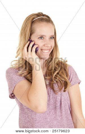 Girl Purple Phone Smile