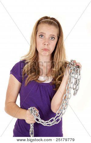 Girl Sad Chain