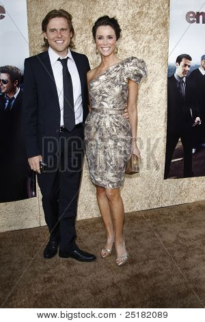 LOS ANGELES - JUNE 16: Abigail Spencer and husband Andrew Pruett at the premiere of 'Entourage' held at Paramount Studios on June 16, 2010 in Los Angeles, California