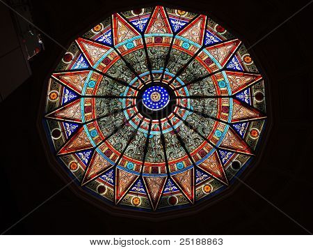 Painted glass ceiling