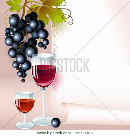 Grapes. menu