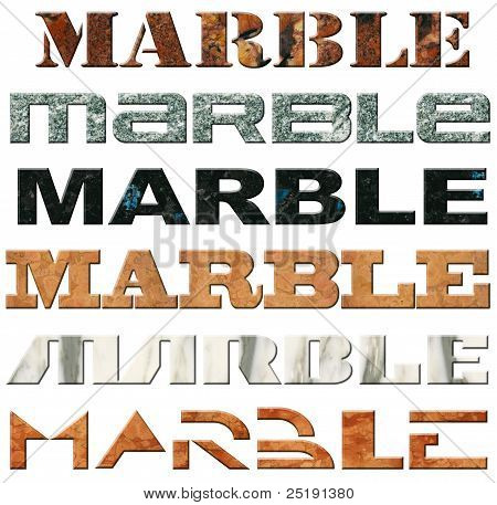 Six Words Marble