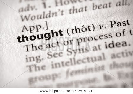 Dictionary Series - Philosophy: Thought
