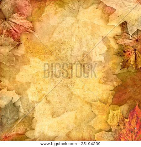 Vintage Retro Leafy Background