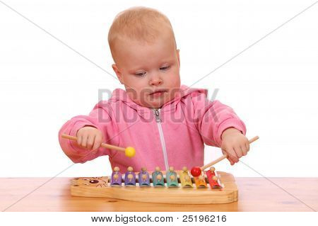 Girl Plays Xylophone