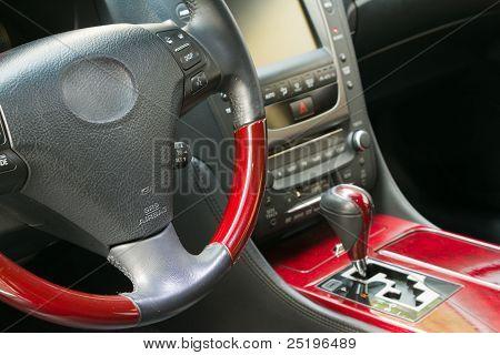 Volante y gear shift stick