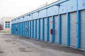 Numbered Self Storage And Mini Storage Garage Units . poster