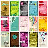 picture of emo  - set of colorful vertical business cards in different styles  - JPG