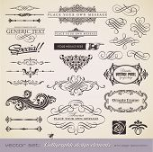 pic of scroll design  - vector set - JPG